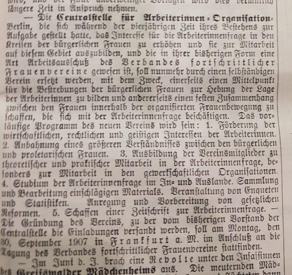 Centralblatt Bund deutscher Frauenvereine