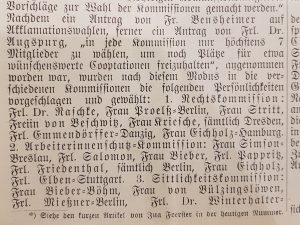 Centralblatt Bund deutscher Frauenvereine Sittlichkeitskommission