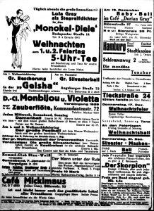 Anzeigenseite aus der Freundin vom 16.12.1931