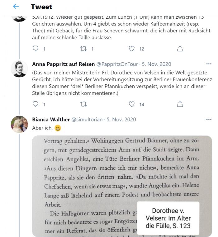 Tweet aus dem Twitter-Account @PappritzOnTour