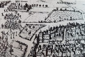 Ansicht von Andernach mit Kloster St. Thomas