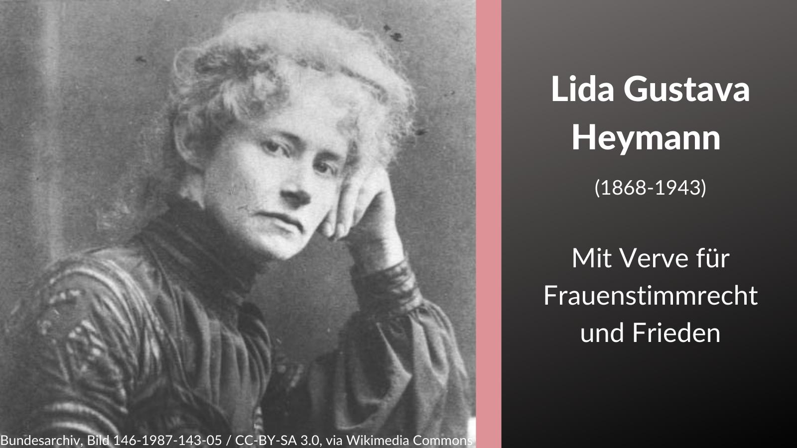 Lida Gustava Heymann – Mit Verve für Frauenstimmrecht und Frieden